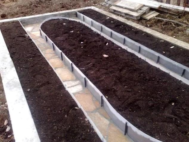 Бордюр садовый выбор материала и установка своими руками