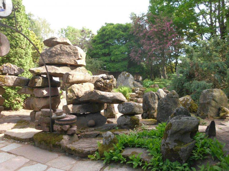 Японский сад камней на даче