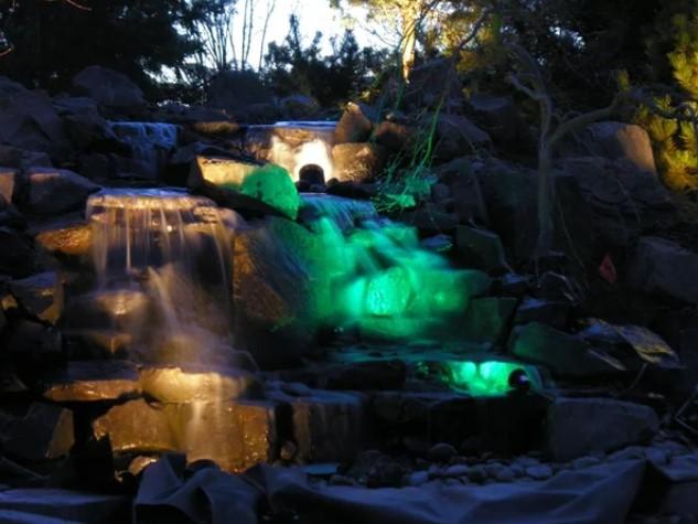 Светодинамические фонтаны: игра света и воды